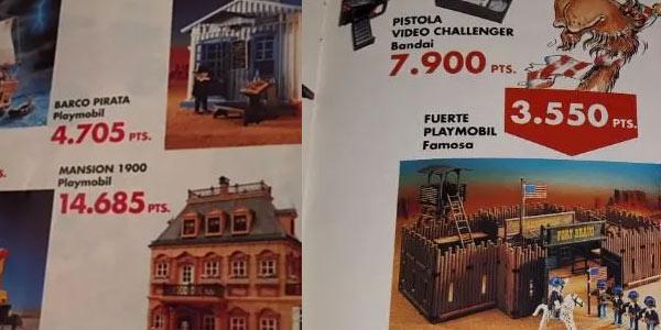Fuerte de Playmobil y barco pirata en pesetas