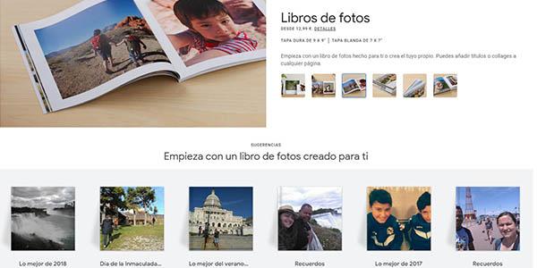 Google Photobooks álbums de fotos