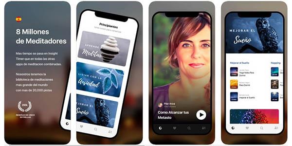 Insight Timer aplicación de meditación gratuita