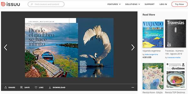 Issue revistas de temática viajes de lectura gratis