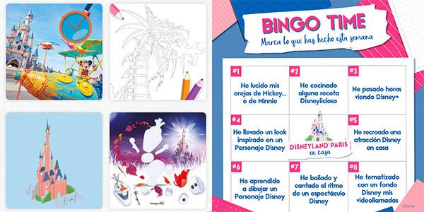 juegos y actividades infantiles de Disneyland París en Casa