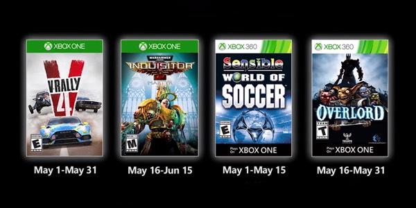Juegos GRATIS con Gold mayo de 2020 para Xbox One