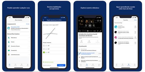 Khan Academy aplicación para móvil de matemáticas para niños