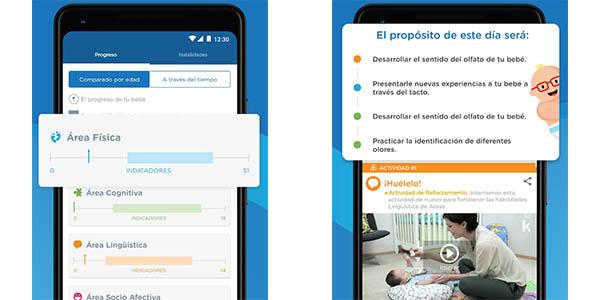 Actividades de Estimulación Temprana para tu bebé con la app Kinedu gratis