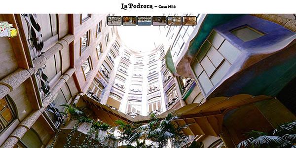 La Pedrera de Gaudí Barcelona Modernismo visita virtual gratuita