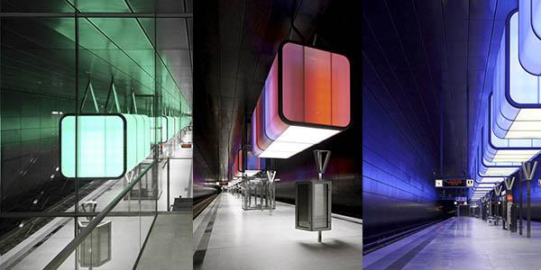 Metro de Hamburgo proyecto de iluminación destacado