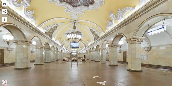metro Moscú visita virtual