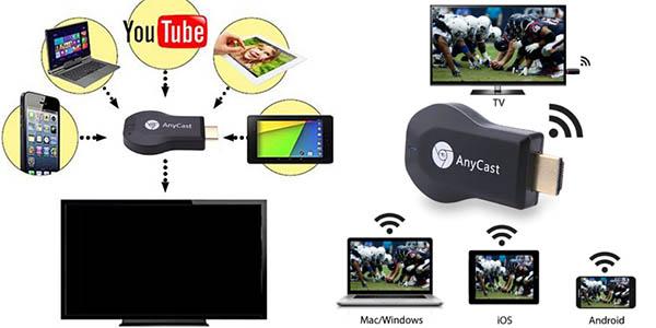 Receptor Anycast M2 compatible con Miracast DLNA y Airplay en AliExpress
