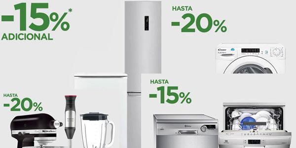 Ofertas en electrodomésticos en El Corte Inglés