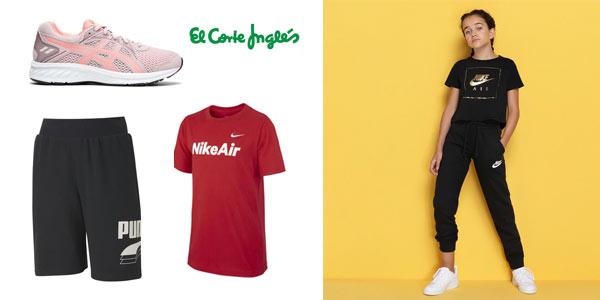 Ofertas especiales en ropa y calzado deportivo para niños en El Corte Inglés