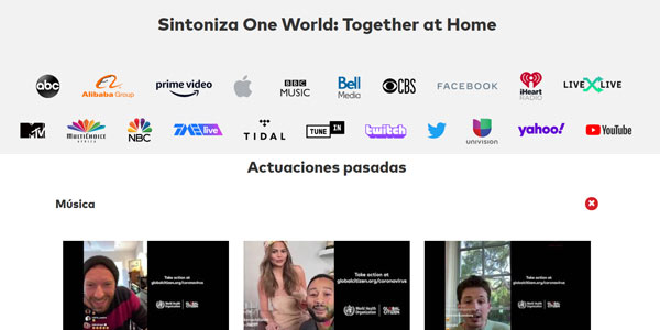 One World Together At Home Global Citizen concierto global