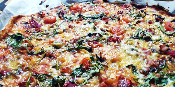 pizza casera de guerrilla Lady Ganga