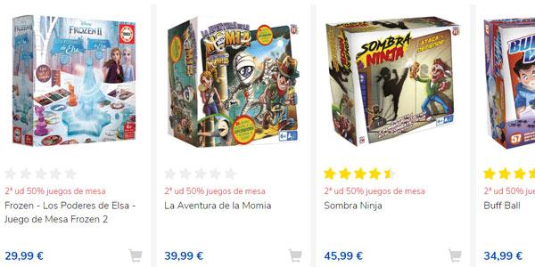 Promoción segunda unidad al 50% de descuento en Juegos de Mesa de Toys R Us