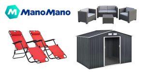 Promoción en ManoMano con hasta un 70% de descuento en productos de jardín y terraza