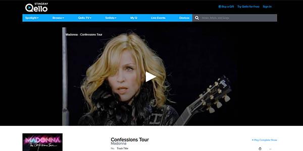 Qello conciertos online gratuitos