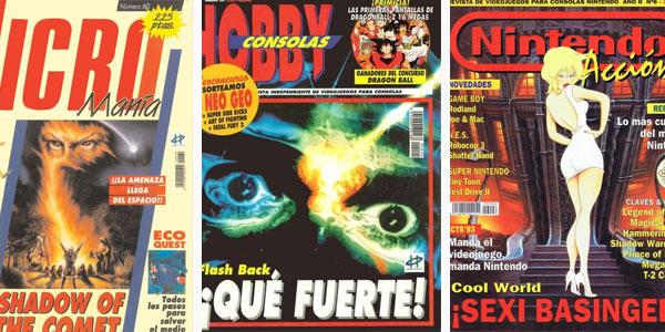 Revistas Hobby Consolas, MIcromania y NIntendo Acción en pesetas