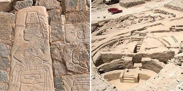Sechín Bajo Perú yacimiento arqueológico antiguo