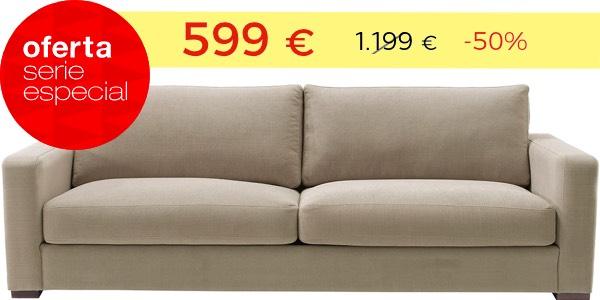 Sofá 3 plazas barato tapizado
