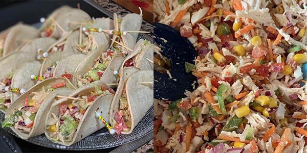 Tacos de pollo y verdura