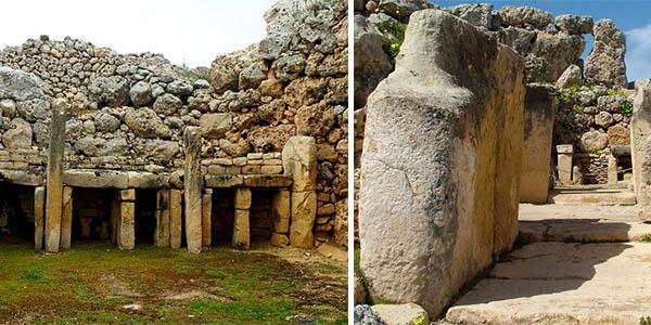 Templos Ggantija Malta yacimiento arqueológico antiguo