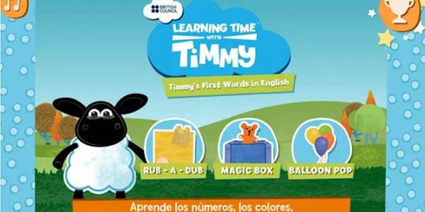 Timmy's First words in English aplicación móvil gratis para niños