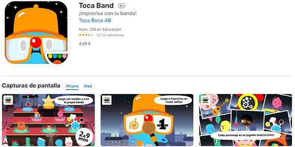 Toca band aplicación de música para niños