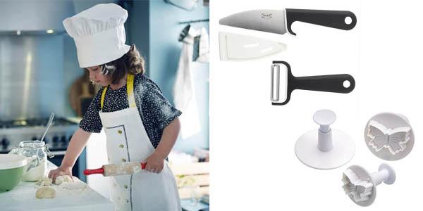 utensilios para cocinar con niños