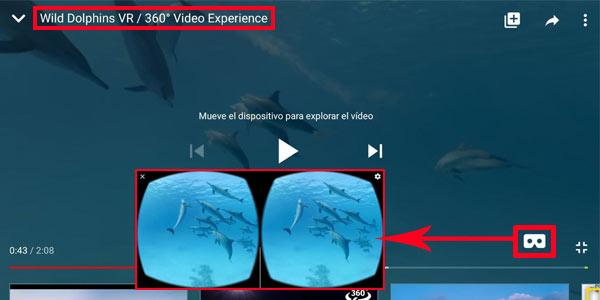 Cómo ver vídeos 360º VR en Youtube con gafas