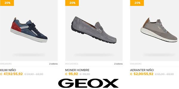 zapatos de Geox promoción abril 2020