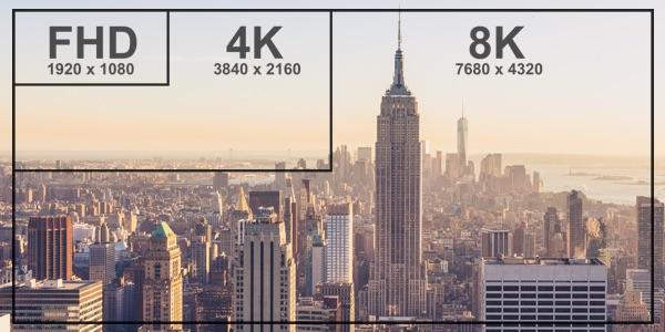 diferencias tamaño entre tele 4k y 8k