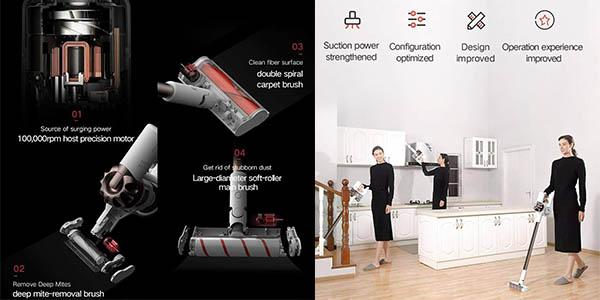 aspirador inalámbrico Xiaomi de mano y suelos Xiaomi Dreame XR V10R chollo