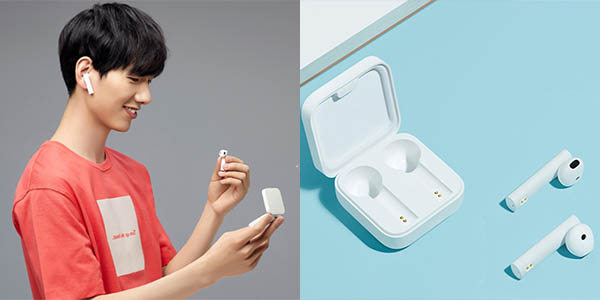 Auriculares Xiaomi Airdots Mi Air 2 SE en color blanco