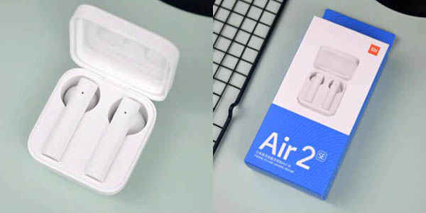 Auriculares Xiaomi Airdots Mi Air 2 SE con estuche de carga