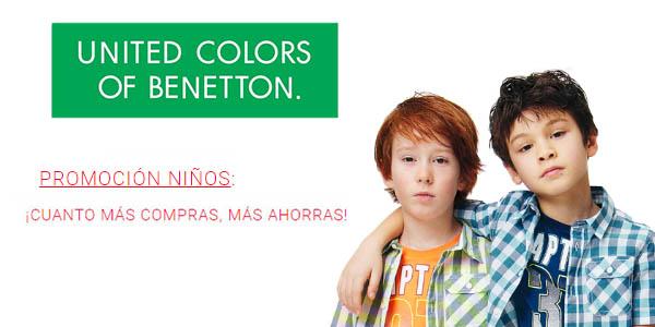 Benetton promoción en ropa infantil