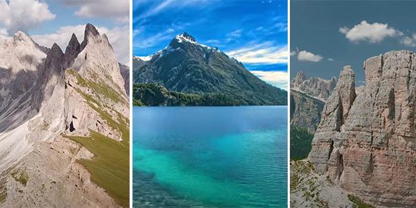 cadenas montañosas del mundo vídeos 4K a vista de dron para viajar desde casa