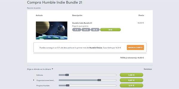 Humble Indie Bundle 21 barato