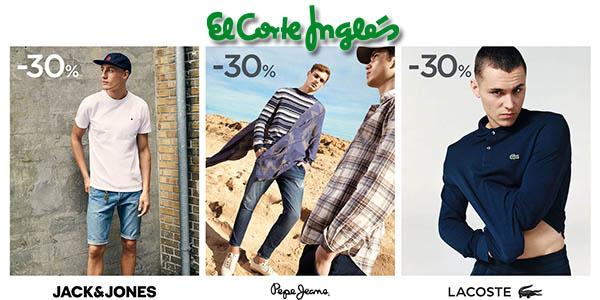 El Corte Inglés ropa Tommy Hilfiger, Lacoste, Pepe Jeans