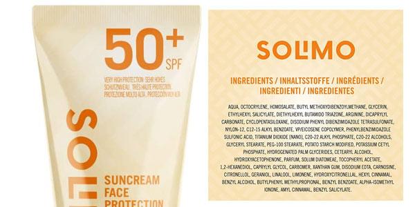 Crema Amazon Solimo Sun FPS50 en oferta en Amazon