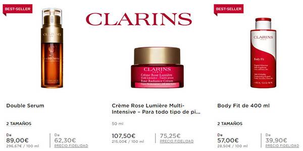 cremas y tratamientos Clarins rebajados en la tienda online