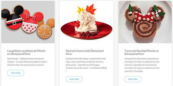 Disneyland Paris recetas de Navidad infantiles gratuitas