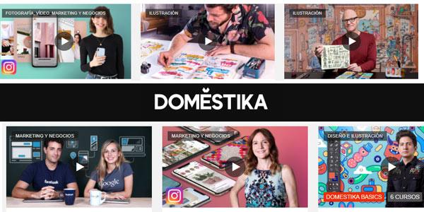 """Pack de 3 cursos en Domestika """"Aprende con los mejores creativos"""" con un 30% de descuento"""