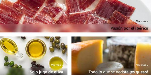 embutidos, jamones, aceites y vinos de España en las ofertas de la tienda de alimentos de Amazon