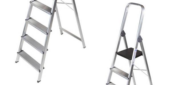 escalera de aluminio ManoMano relación calidad-precio estupenda