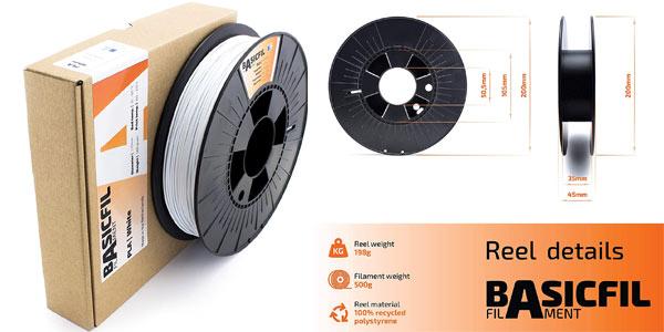 Filamento pla para impresoras 3D Basicfil en oferta en Amazon