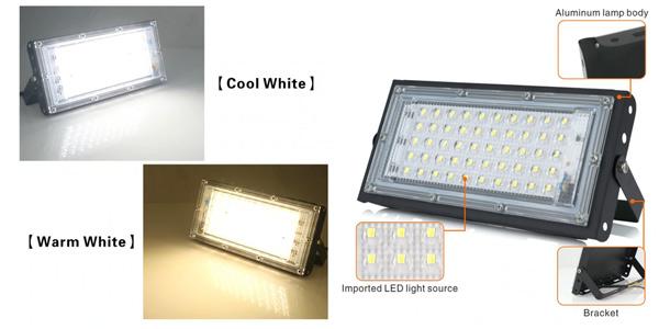 Foco LED exterior de 50 W barato en AliExpress