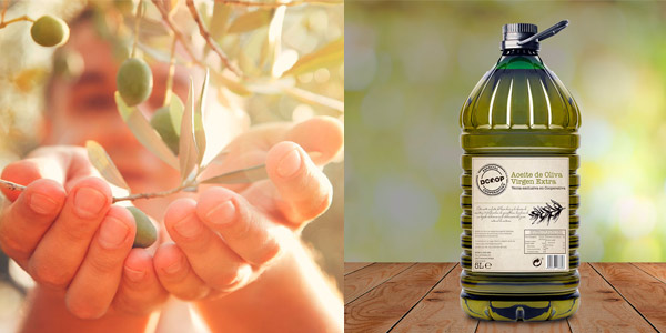 Aceite de oliva virgen extra Dcoop garrafa 5 l chollo en Amazon
