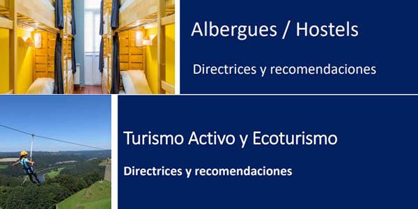 guías medidas poscoronavirus para el sector turístico
