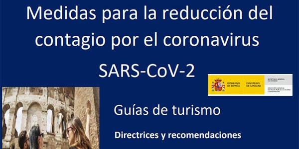Guías con medidas de seguridad del Ministerio de Industria y Turismo de España para el sector turístico