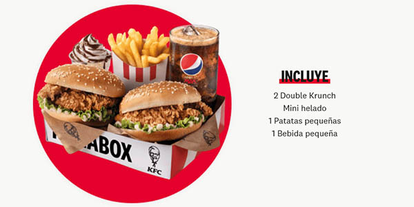 KFC Megabox caja de comida a precio de chollo