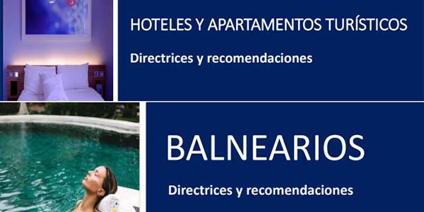 medidas de seguridad poscoronavirus del Ministerio de Turismo para hoteles y alojamientos